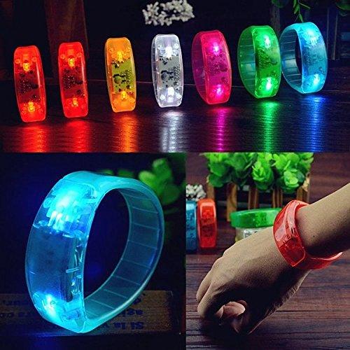 Bazaar Voice Control LED Licht glüht Armbänder Armband Armband Party Konzert [Energieklasse A++] Big Bazaar