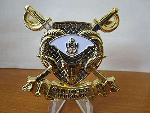 Navy Coin USN Navy Chief Goat Locker Approved Deckplate Certified CPO Challenge Coin ()
