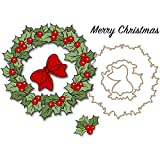 Art Impressions Christmas Wreath Stamp and Die Set