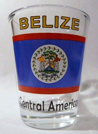 Belize Flag Shot Glass ()