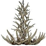 CDn Antler Designs AMZRMTSP Real Antler Chandelier Mule Deer Tall Spruce