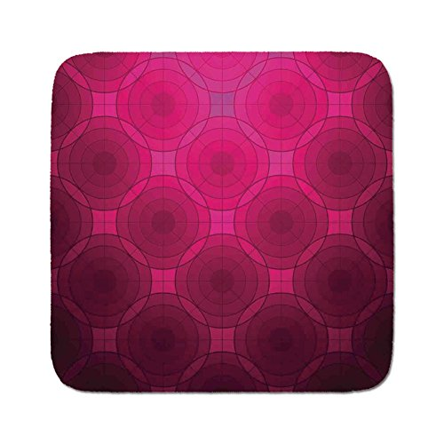 Cozy Seat Protector Pads Cushion Area Rug,Magenta Decor,Disc Shaped Fluid Dynamics Circular Spherical Forms Whirls Rings Print Image,Punch Pink,Easy to Use on Any Surface