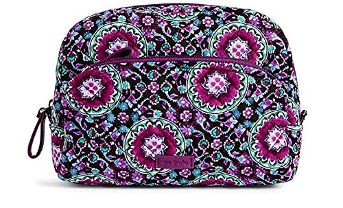 - Vera Bradley Iconic Medium Cosmetic in Lilac Medallion Signature Cotton