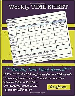 weekly time sheet series 4 weekly time log employee logbook time