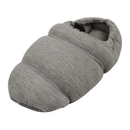 Fakeface Inverno Caldo Addensare Pantofole In Cotone Trapuntato Stivaletti Slio-on House Pantofole Pantofole Interne Grigio