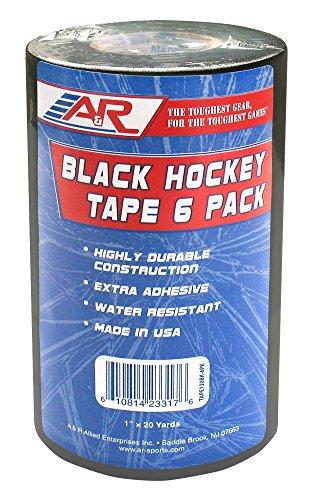 A&R Sports A& Cinta de Hockey Negra, Varios Colores, Tamaño, Negro, Paquete de 6