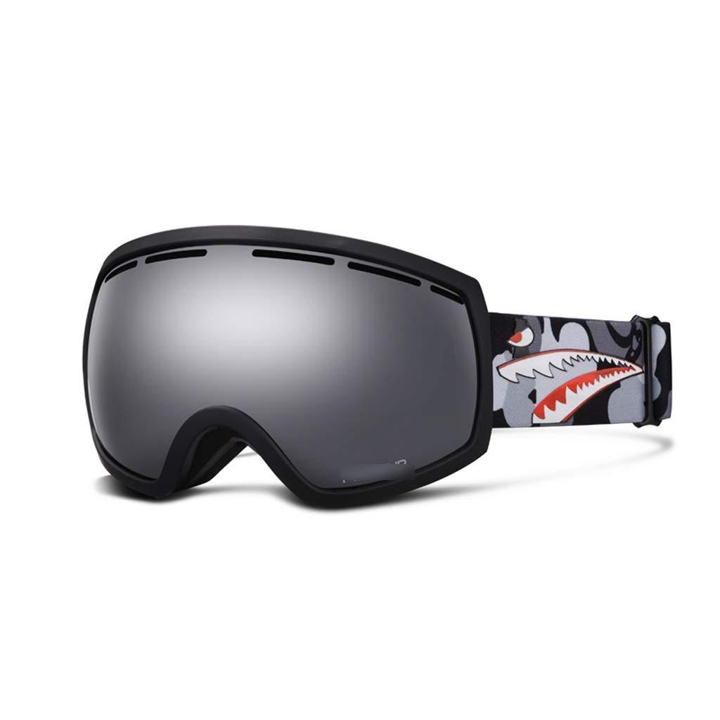 noir  Masque de Ski Adulte Masque de Ski voiturete myopie Miroir Grand Masque sphérique Anti-buée Code Rouge LJJOZ (Couleur   vert)