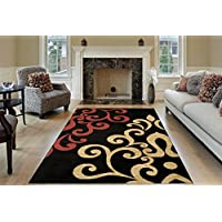 Maxy Home Pasha Filigree Spade Multicolor 5 ft. 3 in. x 6 ft. 11 in Area Rug