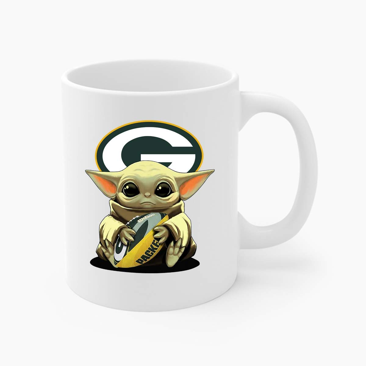 tumbler latte mug travel mug P a c k e r s Baby Yodan Mug coffee mug Baby Yodan Football Team Green Bay mug water bottle