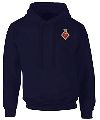 dc579bbb9 HMS Raleigh Embroidered Logo - Official Royal Navy Hoodie Hooded Sweatshirt  By Military Online: Amazon.co.uk: Clothing