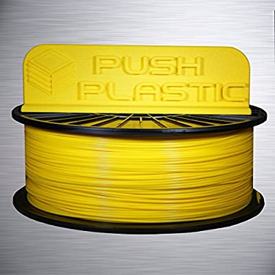 Push Plastic 1.75mm Yellow PLA 3D printer filament 1kg (2.2 lbs)
