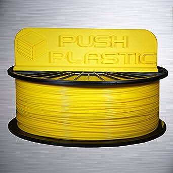 Amazon.com: Push de plástico 1.75 mm Yellow ABS 3d filamento ...