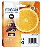 Epson Photo Black 33 X-Large Claria Premium Ink Cartridge, Genuine