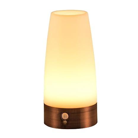 Signstek LED luz inalámbrico, lámpara de despertador de detector de movimiento PIR, lámpara de