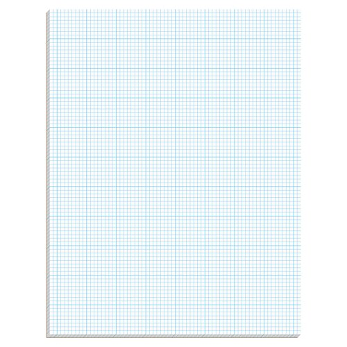 Quadrille Graph Paper (TOPS 35081 Cross Section Pads, 8 Squares, 8 1/2 x 11, White, 50 Sheets)
