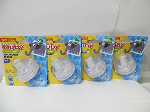 8 Nuby Sippy Gripper Replacement Spouts 10 Oz Tall Nuby Sipp