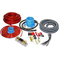 Audiotek AT-4KITANL RED 4 Gauge Professional Heavy Duty Amplifier Installattion Kit Cables 2500W