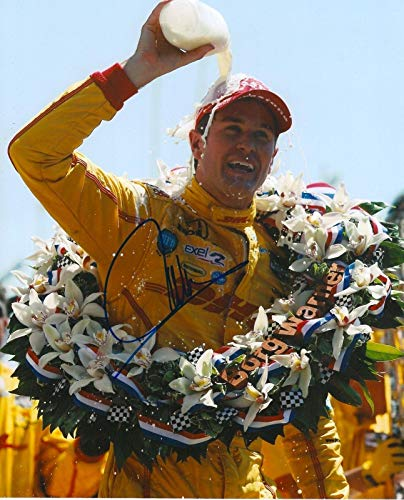 Autographed Ryan Hunter Photo - REAY 8x10 INDY 500 TROPHY IRL INDY COA - Autographed College Photos ()