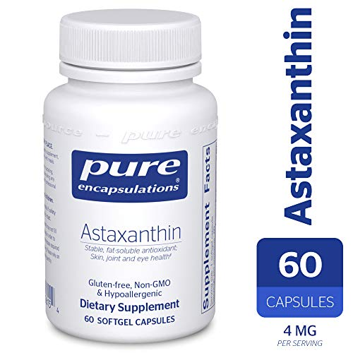 Pure Encapsulations - Astaxanthin - Stable, Fat-Soluble Antioxidant Supplement - 60 Softgel Capsules (Best Astaxanthin Supplement Brand)
