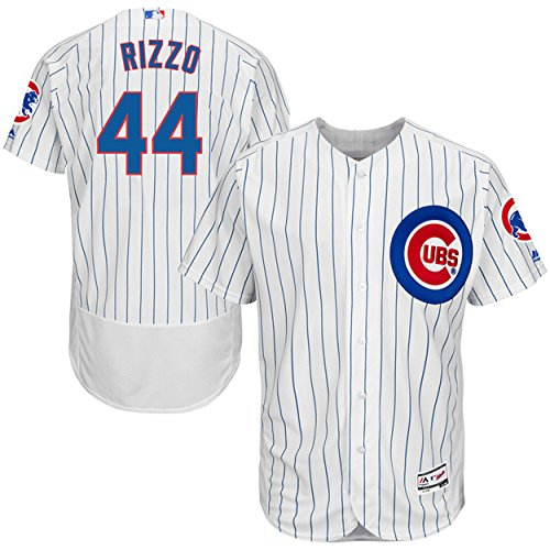 - Majestic Athletic NO.44 Mens Anthony Rizzo Chicago Cubs Home Baseball Jersey - White (Size 40)