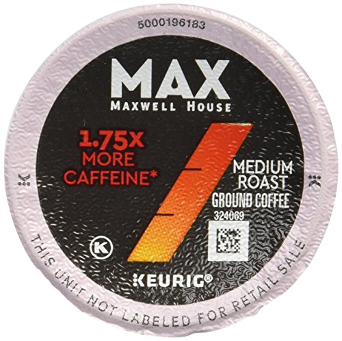 (MAX Maxwell House 18 Piece Boost K-Cup Pods Coffee, 1.75x Caffeine, 7.16 Ounce)