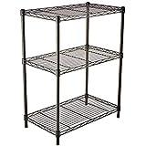AmazonBasics 3-Shelf Adjustable, Heavy Duty Storage Shelving Unit (250 lbs loading capacity per shelf), Steel Organizer Wire