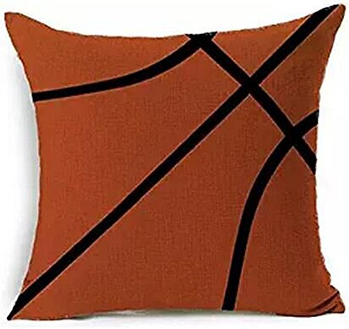 (Andreannie Sports Basketball Design Throw Pillow Case Personalized Cushion Cover New Home Office Decorative Square 18 X 18 Inches ¡­ )