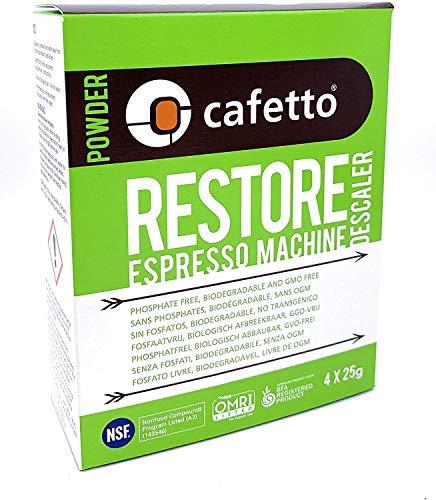 Cafetto Restore Espresso Machine Descaler, Coffee