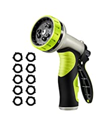 VicTsing Upgrade Garden Hose Nozzle with 9 Watering Patterns,...
