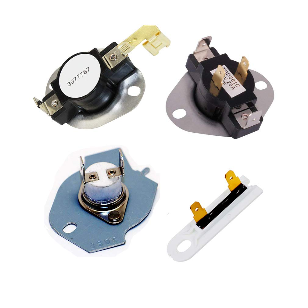 3392519 & 3387134 & 3977767 & 3977393 Dryer Thermostat and Dryer Thermal Fuse Replacement kit - Exact Fit For Whirlpool & Kenmore Dryers