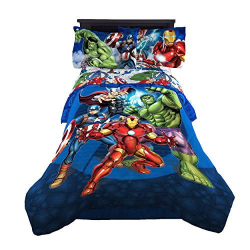 Marvel Avengers 'Blue Circle' Reversible Comforter, Twin/Full