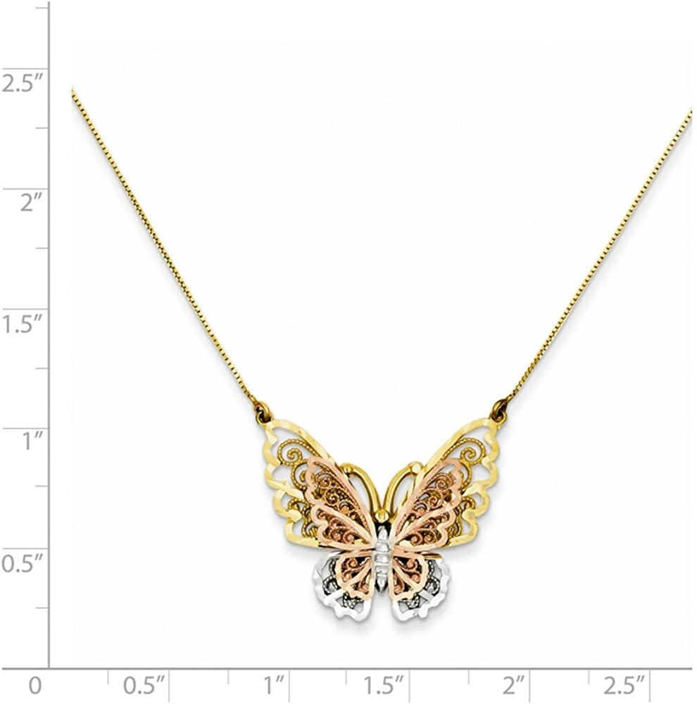 Fashion Animal Butterfly Pearl Pendant Necklace Charm Choker Party Jewelry Gift
