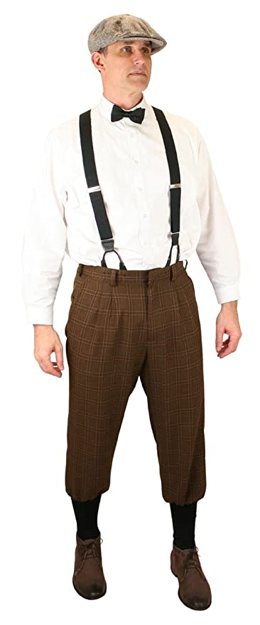 1920s Men's Pants, Trousers, Plus Fours, Knickers Harvey Plaid Knickers Historical Emporium Mens $64.95 AT vintagedancer.com