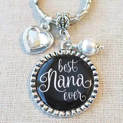 Amazon BEST NANA EVER Bag Clip Keychain Gift For Grandma Nana