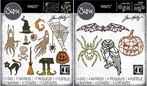 Tim Holtz Sizzix Halloween 2019 Thinlit Set - Frightful Things and Geo Halloween - 2 Items