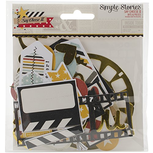 Simple Stories Say Cheese II Bits & Pieces Die-Cuts, Gold ()