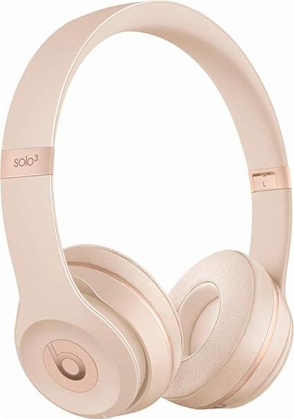 bf7d5ad0fdb Amazon.com: Beats Solo 3 Wireless On-Ear Headphones - Matte Gold (Renewed):  Home Audio & Theater