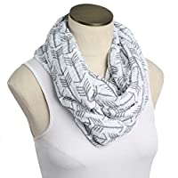 --SALE--Hold Me Close Muslin Double Gauze Nursing Scarf (White with Gray Arro...
