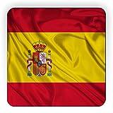 Rikki Knight Spain Flag Design Square Fridge Magnet