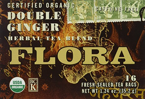 FLORA Double Ginger 16 Tea Bags, 0.03 (Double Ginseng)