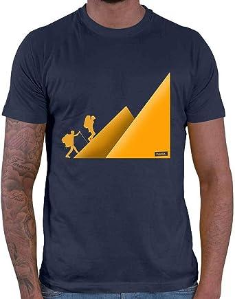 HARIZ Camiseta para hombre, senderismo, montañismo ...