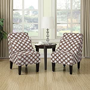 Amazon Com Armless Accent Chair With Matching Pillows