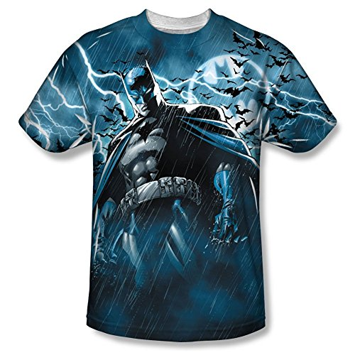 Batman+Shirts Products : Batman Stormy Knight Sublimated Adult T-Shirt