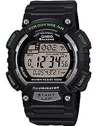 Men's Solar STLS100H-1AV Black Resin Quartz Watch