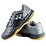 Yonex Men's Black Gunmetal Polyurethane Court Acel Non Marking Badminton Shoes -UK-7