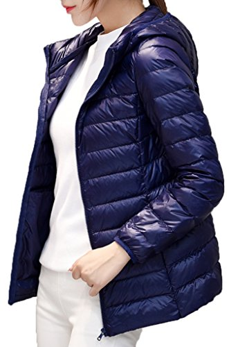 Geval Jacket Ultra Down Light Weight Packable Hooded Women's Navy rZqw0r6