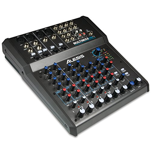 (Alesis MultiMix 8 USB FX | 8-Channel Mixer with Effects & USB Audio Interface)