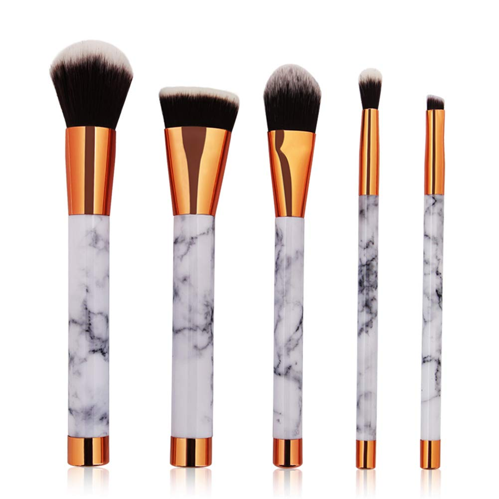 Luxsea Professnial Women Makeup Brushes Extremely Soft Makeup Brush Set 10pcs Foundation Powder Brush Marble Make Up Tools