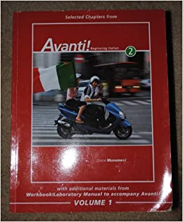 Avanti Beginning Italian 9780077381103 Amazoncom Books