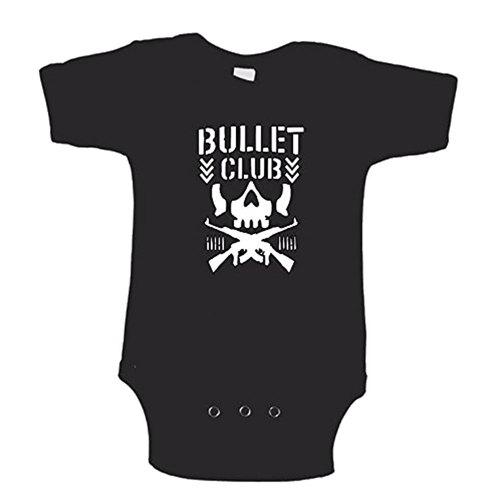 189cfcfa7f7 Amazon.com: Bullet Club Skull Logo WWE Childrens Infant Baby Black Bodysuit:  Clothing
